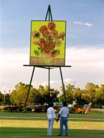 Van Gogh Sunflower Painting - ACT Tourism
