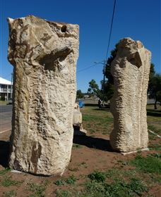 Fossilised Forrest Sculptures - ACT Tourism