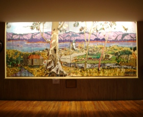 Adaminaby Memorial Hall Stage Curtain - ACT Tourism