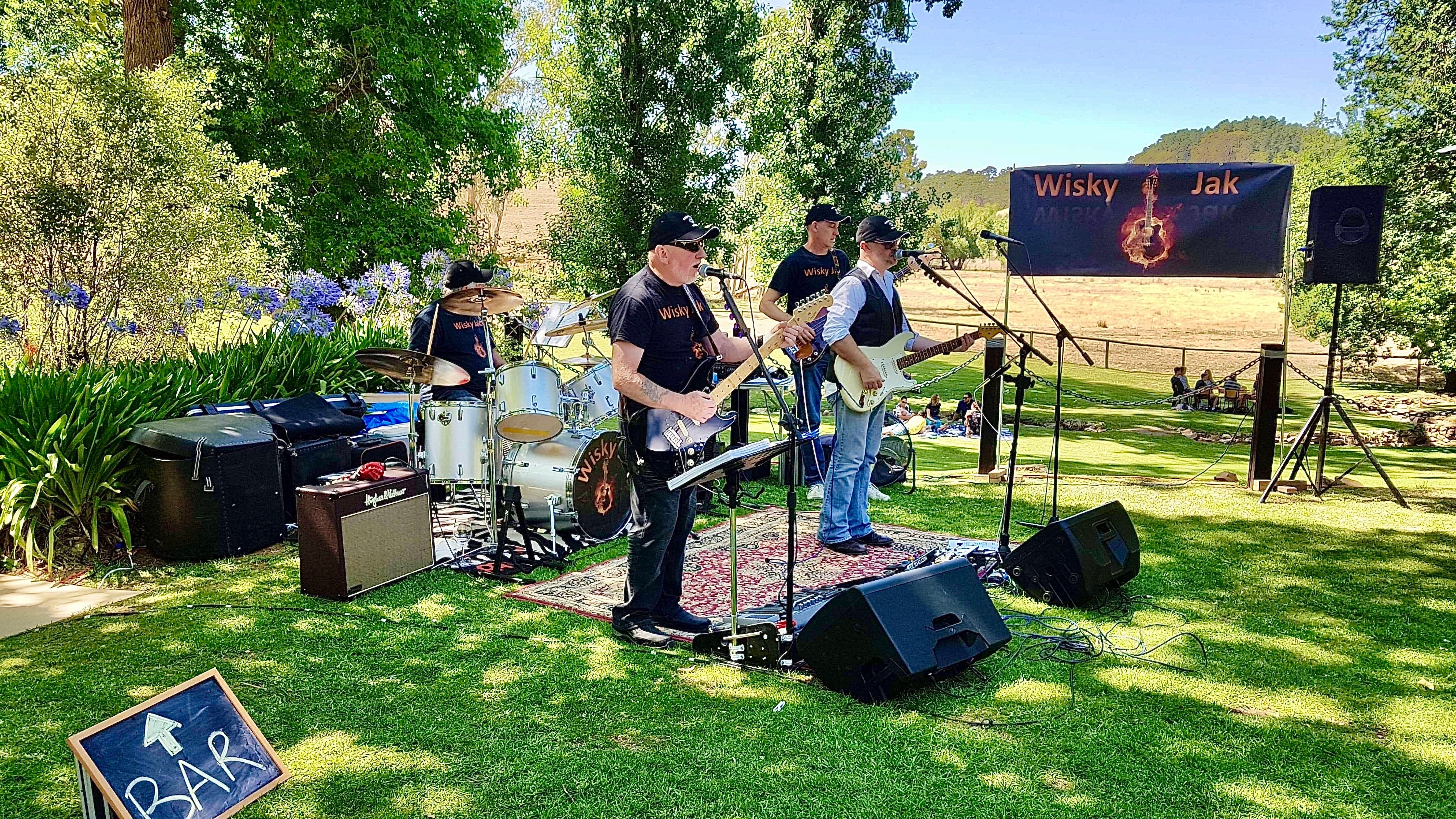 Angas Plains Wines Live in the Vines with the band -Wisky Jak - ACT Tourism