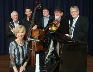The Caxton Street Jazz Band in the Swigmore Hall at Robert Channon Wines - ACT Tourism