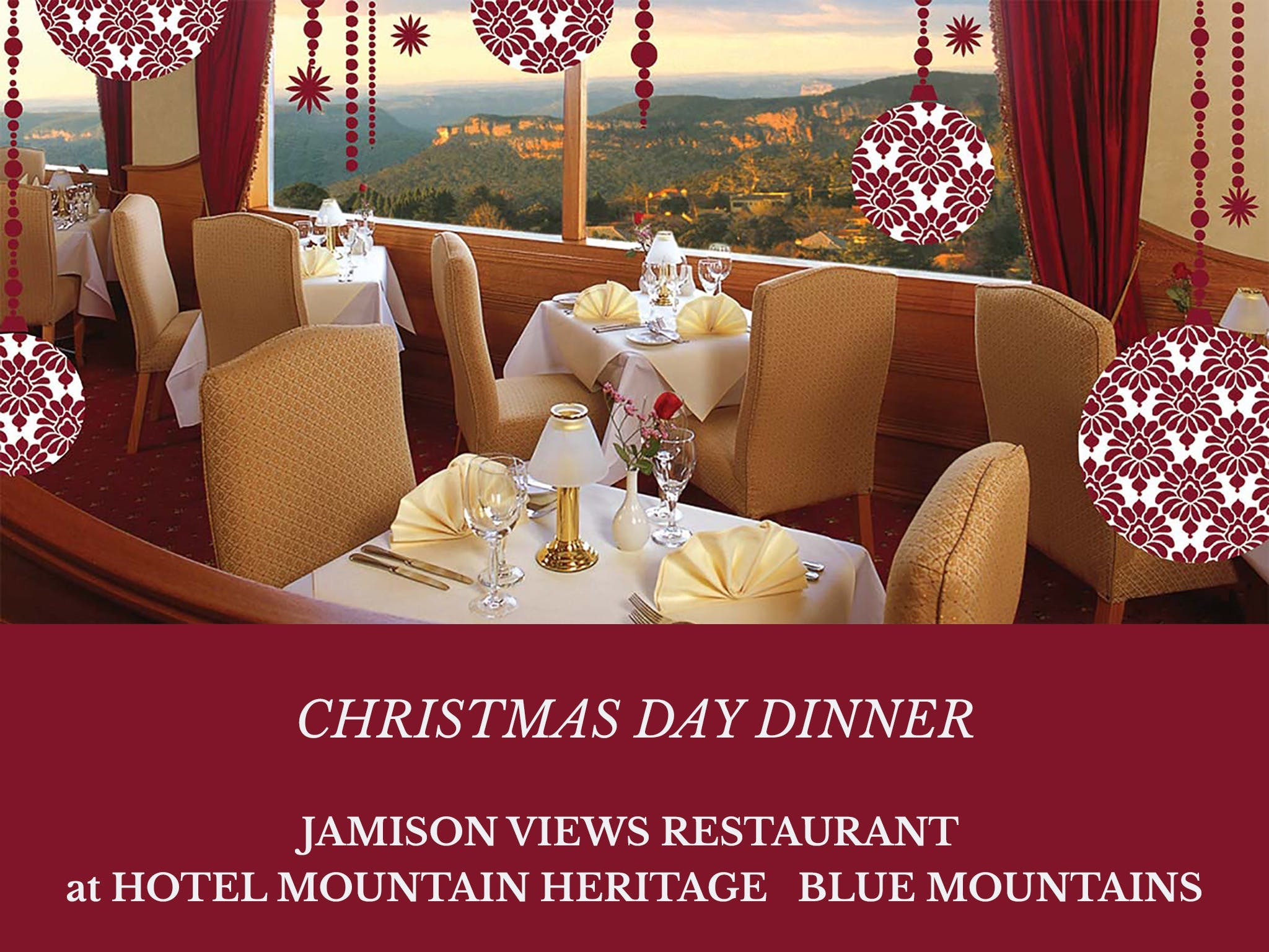Christmas Day Dinner Hotel Mountain Heritage - ACT Tourism